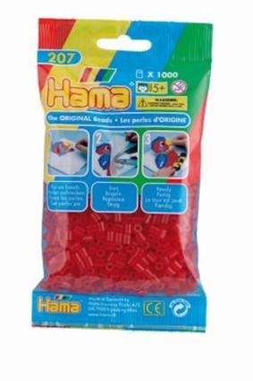 Hama midi perler 1000 stk tr. rød 13